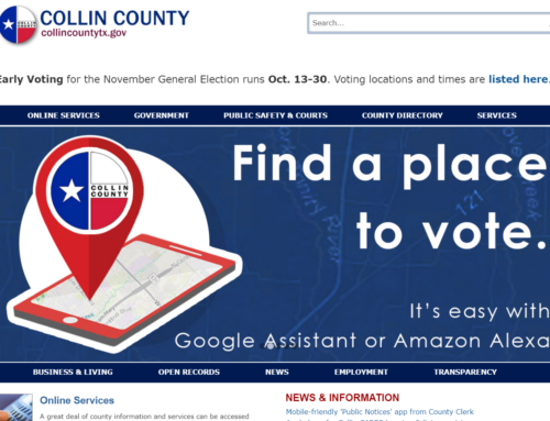 Collin County Texas Helping Citizens Vote Efficiently and Safely