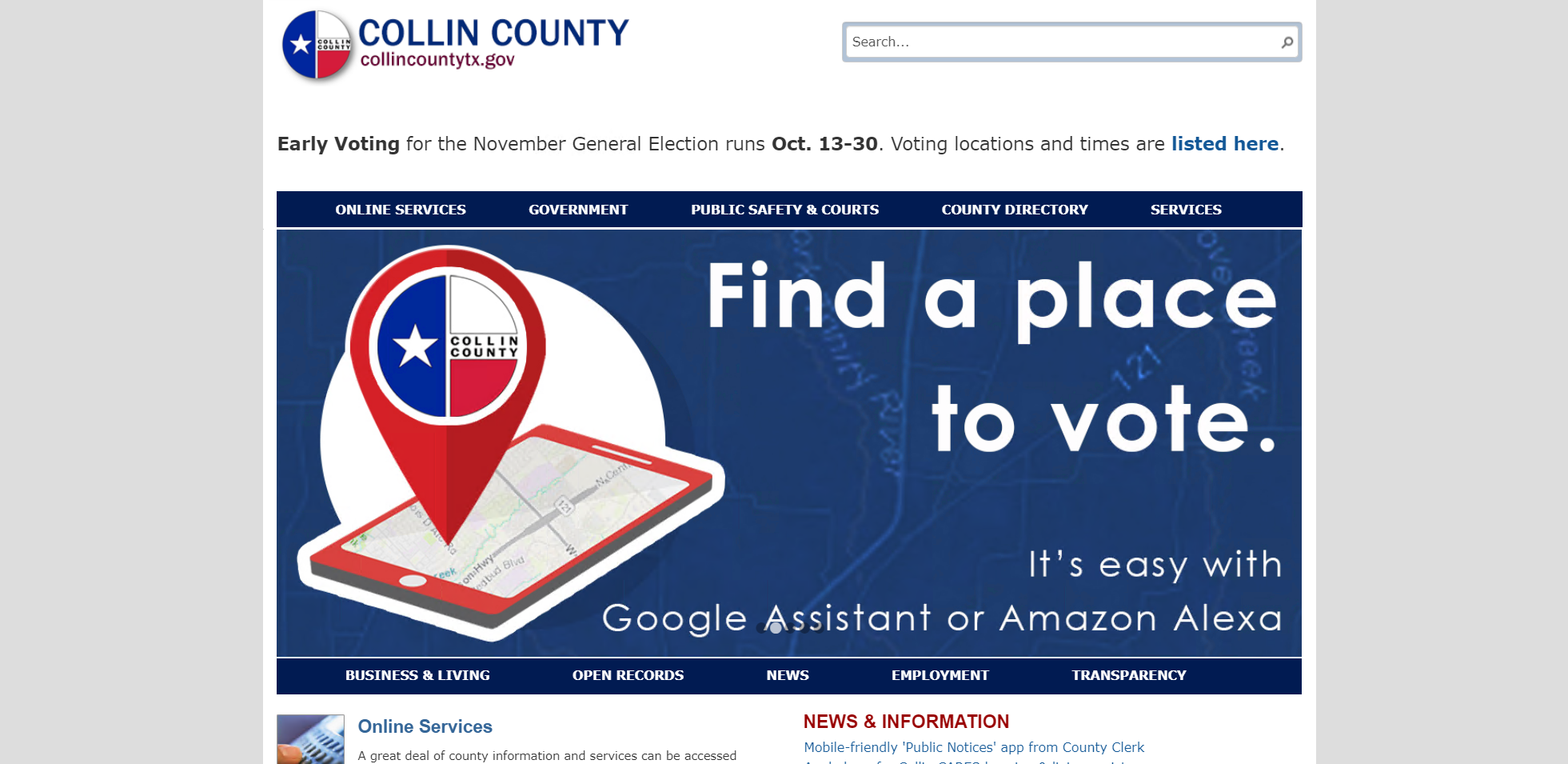 Collin County: Find a place to vote with Google Assistant or Alexa
